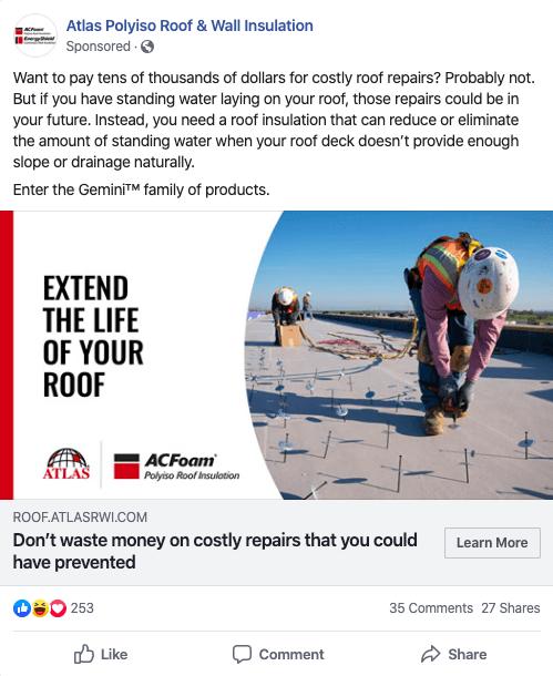 Facebook Ads Building Materials