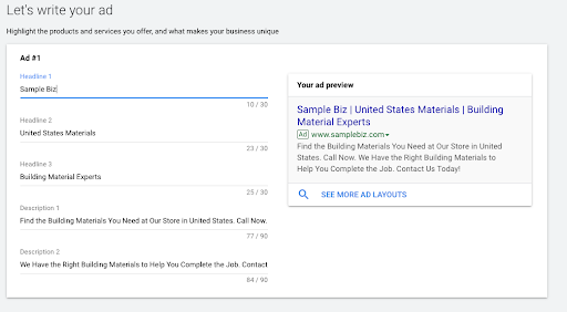 Test Your Message Google Ads